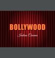 bollywood indian cinema vintage background vector image