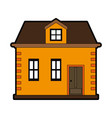 brick family house icon image vector image vector image