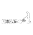businessman solve problem vector image vector image