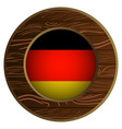 button with flag of germany vector image vector image