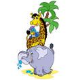 cartoon african animals vector image vector image