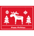 christmas scandinavian greeting card vector image vector image
