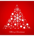 Christmas tree triangular ornament vector image
