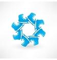 Circle of blue skates vector image