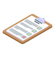 clipboard assignment icon isometric style