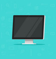 computer monitor flat cartoon vector image