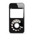Creative Mobile phone with retro disc dials vector image vector image