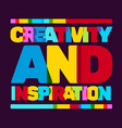 creative text colored rainbow concept on black vector image vector image