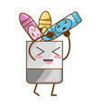 cute crayons cartoon vector image