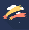 falling star icon set of great flat icons with vector image vector image