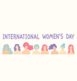 flat cartoon design for international women vector image vector image