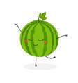 funny cartoon watermelon ballerina vector image