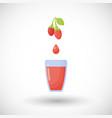 goji berries juice flat icon vector image vector image