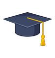 graduation hat icon cartoon style vector image vector image