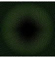 green circle of halftone vector image vector image