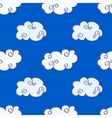 hand drawn clouds over the blue sky vector image