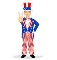 handsome man dressed up like Uncle Sam vector image vector image