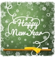 Happy New Year message written on the green school vector image vector image