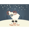 happy new year postcard design vector image vector image