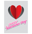 Heart Shape Paper Cut Background and Valentine vector image vector image