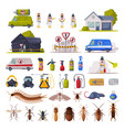home pest control service set exterminating and vector image vector image