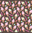 ice creams seamless pattern eps10 vector image vector image