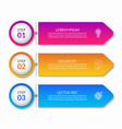 infographic banner with 3 arrows vector image vector image