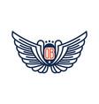 initials ob logo design vector image