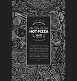 italian pizza and ingredients frame italian food vector image vector image