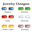 Jewelry Octagon Isolated Objects vector image vector image
