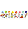 kids and banner carnival vector image vector image