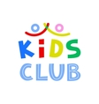 Kids Club Logo Template vector image