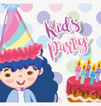 kids party cartoons vector image vector image