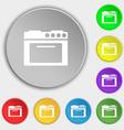 kitchen stove icon sign Symbol on eight flat vector image