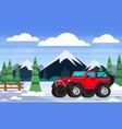 landscape travel vacation winter snow concept vector image vector image