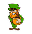 leprechaun on patricks day vector image vector image