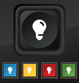 light bulb idea icon symbol Set of five colorful vector image