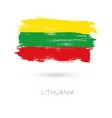 lithuania colorful brush strokes painted national vector image vector image