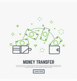 money transfer concept vector image vector image