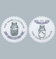 monochrome labels design with of vector image vector image
