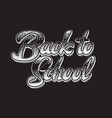 monochrome with lettering vector image vector image