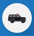 of security symbol on suv flat vector image