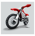 off-road red motorbike vector image vector image