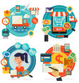 online shopping customer and technical support vector image