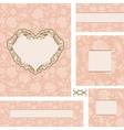 ornate wedding frame set with heart frame vector image vector image