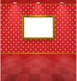 Polka dot room with frame vector image vector image