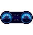 Racing car speedometer vector image