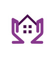 residence home estate icon logo vector image vector image
