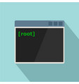 root window icon flat style vector image vector image