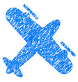 screw aeroplane grunge icon vector image